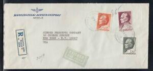 YUGOSLAVIA Registered Cover Belgrade to New York City 27-10-1970 Cancel