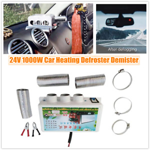 24V Car Heating Compact Heater 3Hole 1000W Defroster Demister Window Mist Remove