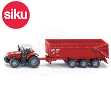 SIKU NO.1844 1:87 Scale MASSEY FERGUSON TRACTOR With TRAILER Dicast Model / Toy
