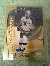 2000-01 Upper Deck MVP Brandon Smith Second Stars Gold #d/100 Boston Bruins