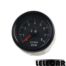 Black 2inch 52mm Tacho Gauges Meters RPM Tinted 0-8(x1000) RPM Car