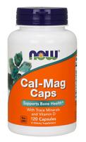 NOW Foods Cal-Mag 120 Caps Calcium Magnesium Zinc Copper Magnese Trace Minerals