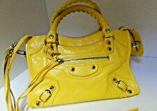 BALENCIAGA  Classic City Mini Crossbody Bag / handbag Yellow
