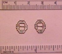 10mm FANCY JUMPRINGS for 1:9 Traditional Model Horse Scale Tackmaking SILVER