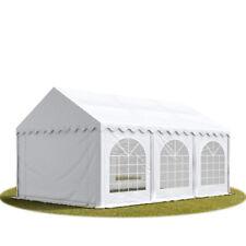 4x6m Heavy Duty PVC Marquee with GROUNDBAR Garden Gazebo Party Tent, white