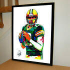 Aaron Rodgers Green Bay Packers Football Sports Print Poster Wall Art 18x24