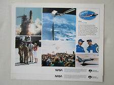 DOCUMENT PUBLICITAIRE NASA ROCKWELL RECTO COLUMBIA STS-4 CHALLENGER 747 REAGAN