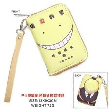 HOt Anime Ansatsu Kyoushitsu Cosplay PU Leather Purse Wallet