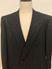 Brioni Mens Peak Lapel Dbl Breast Blazer Jacket Sport Coat Italy Size 44 Large