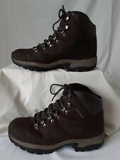 Mens Hi Gear Snowdon II Brown Leather Hiking Walking Boots - Size 9