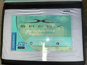 Brand new Sheex Artic Aire Max Performance King sheet set Skye Blue MSRP$219