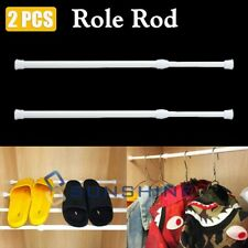 "2x Stall Size Spring Tension Shower/window/closet Rod : Adjustable 23"" to 45"""