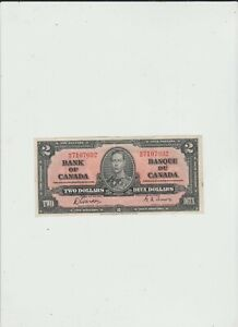 CANADA  2  DOLLARS  1937