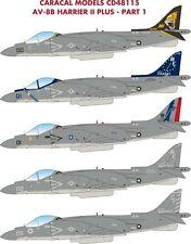 Caracal modelli 1/48 McDonnell-DOUGLAS AV-8B Harrier II # 48115