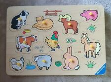 Ravensburger Farm Themed 10 Piece Wooden Jigsaw Tray Puzzle