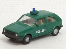 """VW Golf II zweitürig """"Polizei"""" in grün, Wiking, 1:87, ohne OVP"""
