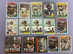 (31x) Walter Payton Vintage Football Cards 1980's