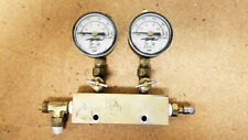 New listing Marshall Double 100 Psi ressure Gauges 3500A-2 with Andrew Manifold