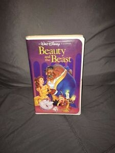 Rare Black Diamond Walt Disney Classic Beauty and The Beast VHS Tape VCR