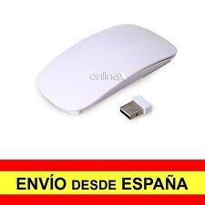 Ratón Ultrafino Óptico Inalambrico Multi Touch Plano USB Blanco   a2761
