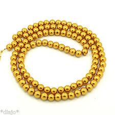 50 Glaswachsperlen 8mm gold glänzend metallic Perlen Glasperlen gelbgold