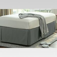 Threshold Wrinkle-Resistant Cotton Bed Skirt Twin Size Gray