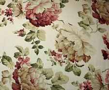 Magnolia Home Large English Rose Floral Pink Cream Upholstery Fabric By The Yard