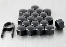 New Set 20 Car Caps Bolts Alloy Wheel for Nuts Covers 19mm Black Plastic Any Car