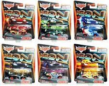 Disney Cars 2 Target Exclusive Neon Racers Complete Set of 6 Metallic Deco!