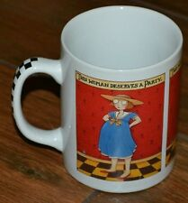 """Mary Engelbreit """"This Woman Deserves a Party"""" Pregnant Woman Mug/Cup Handle Deco"""