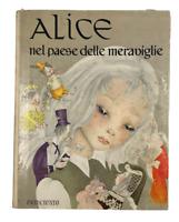 Libro vintage Alice nel paese delle meraviglie ed Principato illustrato A Segur