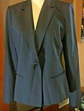 NWT Ann Taylor wool blend navy blue blazer single vent surgeon sleeve mrsp $198