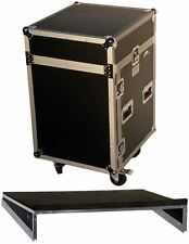 Pro X T-14MRSS 14U x 10U Slant Combo DJ Rack Case w/Wheels +Sliding Laptop Shelf