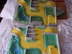 2 PLASTIC BRITAINS FARM BASES ONLY MISSING ALL ACCESSORIES & BUILDINGS,SEE PHOTO