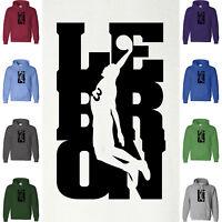 LEBRON JAMES 23 Slam Dunk Hoodie Sweatshirt Los Angeles Lakers Cali Hood Sweater