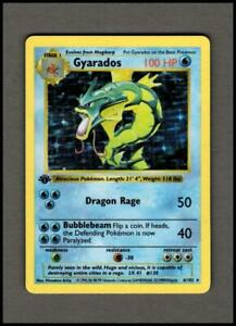 GYRADOS 6/102 Base Set SHADOWLESS 1st Edition Rare Holo Pokemon TCG x1 CN01 LP