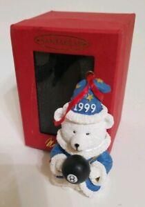 HUDSON'S 1999 SANTA BEAR with MAGIC 8 BALL made for Marshall Fields
