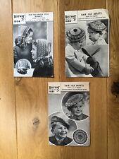 3 Vintage Bestway Knitting Patterns For Children's Hats