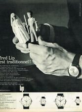 B- Publicité Advertising 1963 La Montre Fred Lip