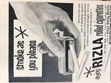 b1M ephemera 1959 advert rizla rolled cigarettes papers