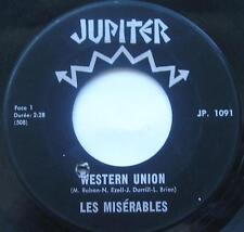 LES MISERABLES Western Union /Tu peux partir CANADA 1967 QUEBEC GARAGE MOD 45