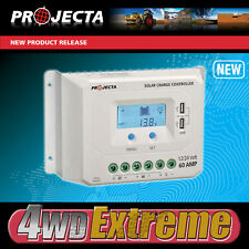 PROJECTA SOLAR CONTROLLER 60AMP SMART AUTOMATIC 4 STAGE 12V 24V LCD SCREEN SC260