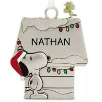 Hallmark NATHAN Peanuts Snoopy and Woodstock Charm Christmas Ornament new