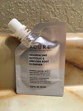 Acure Resurfacing Glycolic & Unicorn Root Cleanser 0.67fl.oz. New 100% Vegan