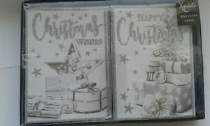 Box of Christmas Cards Star and gifts- 16 Cards, 8 of Each Design