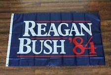 Reagan Bush '84 Banner Flag Presidential 1984 Race President Retro Republican