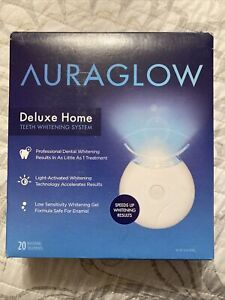 New! Auraglow Delux Home 20 Treatments New Teeth whitening system T7