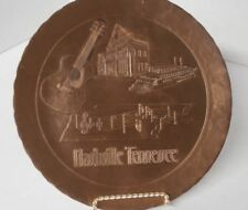 "Nashville Tennesse 1996 Handmade Wendell August Forge Solid Bronze 8 3/4"" Plate"