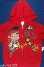 Disney Jake and the Neverland Pirates JAKE Hoodie Jacket childs size 4 New