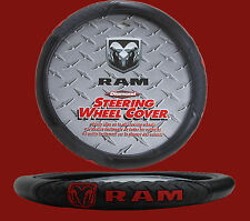 Dodge Ram Diamond Grip Black Steering Wheel Cover